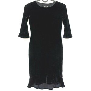 Monkey Wear Black Velour Dress 7 Girls Fitted